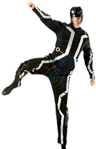 erdbeerloft - Herren Tron Movie Outfit Karneval Fasching Kostüm, M, (Für Erwachsene Kostüme Tron)