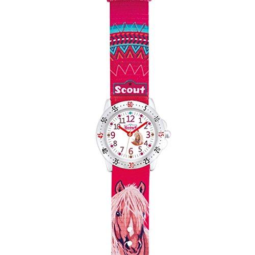 Scout Mädchen-Armbanduhr Analog Quarz Textil 280378071 - 2