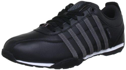 Wht Blk Herren Sneakers (K-Swiss Herren Arvee 1.5 Sneaker, Schwarz (BLK/CTSLGRY/WHT 099), 43 EU)