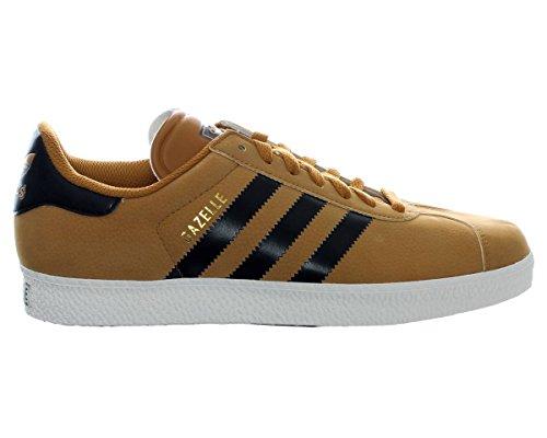 Adidas Originals Gazelle 2 Sneaker Scarpe Vintage Grano Marrone Chiaro Nero Nuovo Marrone