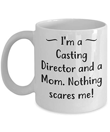 TK.DILIGARM Funny Casting Director Mother's Day 11oz Coffee Mug - I'm a Mom - Unique Inspirational Sarcasm Gift from Son and Daughter -