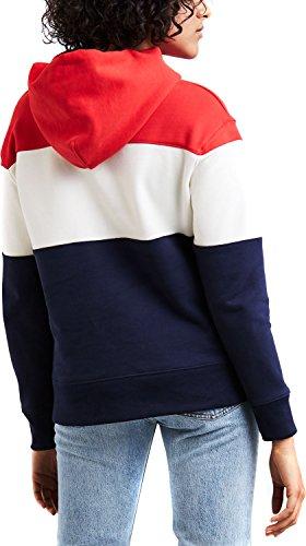 Levis Damen Sweater Colorblock Sport Hoodie 52441-0000 Colorblocked, Größe:L