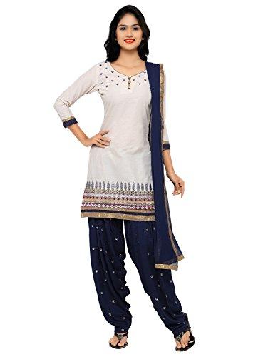 Kvsfab Patiala suit(un stitched_offwhite colour)