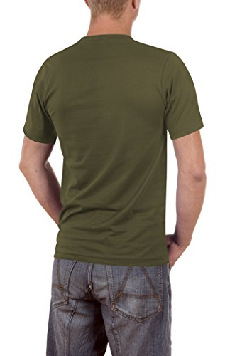 Touchlines Läuft Bei Mir, Zwar Rückwärts Und Bergab Slimfit, T-Shirt Uomo Grün (khaki 06)