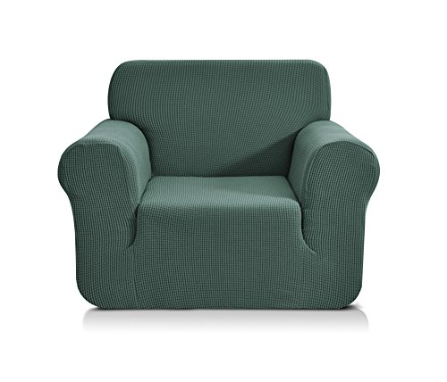 CHUN YI 1-Stück Jacquard Sofaüberwurf, Sofaüberzug, Sofahusse, Sofabezug für Sofa, Couch, Sessel, mehrere Farben (1 Sitzer, Zementgrau)
