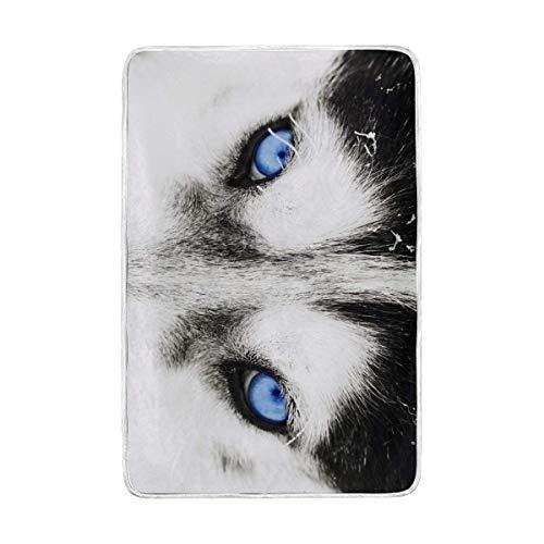 Blau Augen der A Husky Hund Übergroße Überwurf Decken für Polyester-Couch Sofa-König Queen Size Betten Home Decor Zimmer Betten Steppdecke für Sofa, Polyester, Multi, 60x90 - Queen-size-sofa-betten