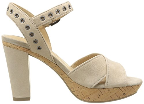 Geox D Heritage A, Sandales femme Beige (Lt Taupe)