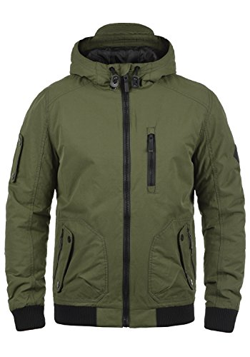BLEND Marc Herren Winterjacke Bomber-Jacke mit Kapuze aus hochwertigem Material Ivy Green (77026)