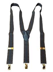Navaksha Gray Y-Back Suspender for Men