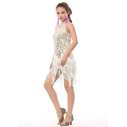FaithYoo Damen Schößchen Kleid One size Weiß