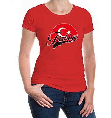 buXsbaum® Girlie T-Shirt Türkei-Logo Red-z-direct