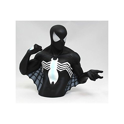 Marvel (marvel) Black Spider-man (black Spider-man) Bust Bank (piggy Bank) [parallel Import Goods] (japan Import) Picture