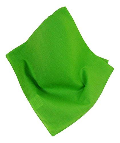 Preisvergleich Produktbild Unifarbenes Nickituch/Bandana in leuchtendem Hellgrün