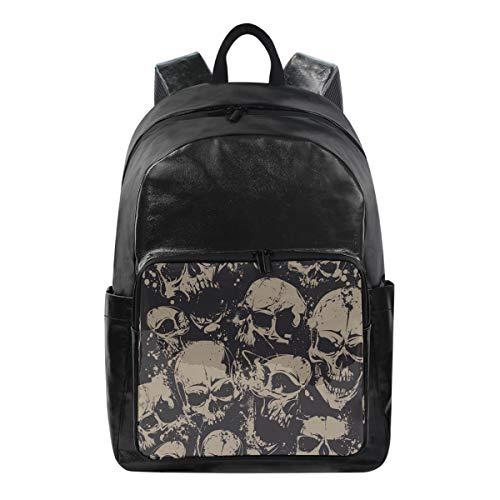 Lustiger Rucksack Day of The Dead Sugar Skull Schultertasche Wandern Camping Daypack Schule Reise Computer Tasche für Kinder Jungen Mädchen Männer Frauen