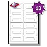 12 Pro Blatt, 10 Blätter, 120 Etiketten. Label Planet® A4 Schlicht Weiß Matt Papier Audio Kassetten Etiketten Für Tintenstrahl und Laserdrucker 89 x 42mm, LP12/89.