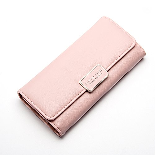 Ulisc Vintage Quality Leather Long Fashion Women Wallets Designer Brand Clutch Purse Lady Party Wallet Female Card Holder (Holder Leather Womens Card)