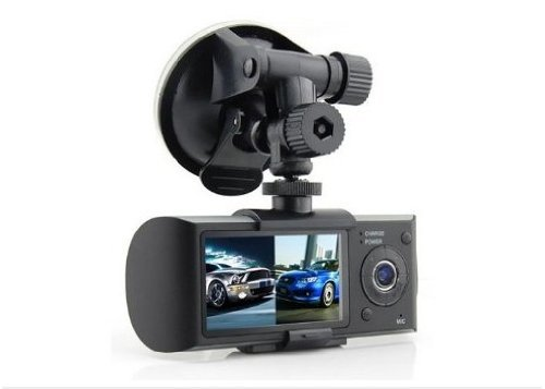 Dual Front & Rear Camera DVR Car Vehicle Dash Dashboard GPS Data Recorder 1.3M