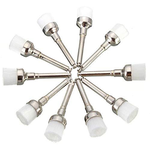 Jasmin FS Elektrowerkzeuge , 100 stücke 28mm x 7mm Dental Prophy Pinsel Polierscheibe Pinsel Weiß Nylon Schüssel Form Schleifmittel