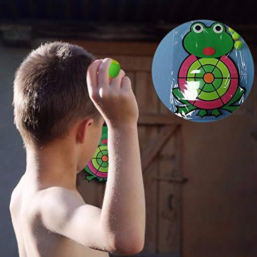 LiuXi Kids Dart Set aus 1 Stoff Dartboard und 3 Bälle mit Haken und Schleife für Softdarts, klassisches und sicheres Set für Kinder