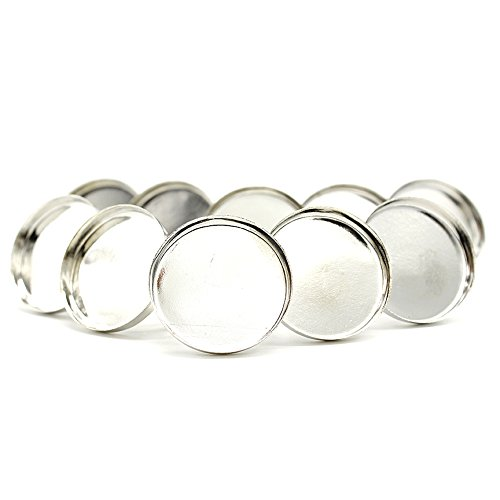 Manchester Case 25 mm-Or blanc vierge anneaux à la Base des constatations fournitures encadrement Craft 10 pièces (Import Allemagne)