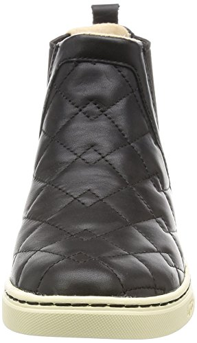 Ugg Australia Women's Hollyn Deco Quilt Black Leather Low Boots In Size 36 Black Black