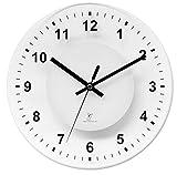 Krippl-Watches Funkwanduhr mit Analoganzeige, Glas
