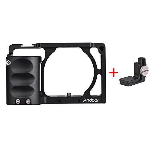 Andoer Video Camera Jaula Jaula Rig Sistema Filmación Aluminio Kit de Aleación De Aluminio A6500 para Sony A6000 A6300 A6500 NEX7 ILDC para Montar El Monitor De Micrófono Accesorios