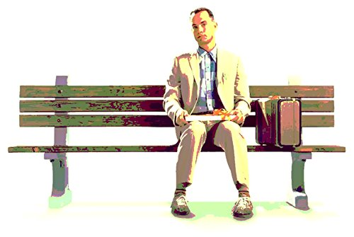Robert Taylor Schauspieler (Forrest Gump (Tom Hanks)–Modernes Bild handgemalt–Pop Art Effect (Format 70x 50cm))