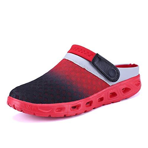 separation shoes 081a1 40322 HLIYY Mode Les Chaussures De Plage des Hommes De Gradient des Pieds Mis  Pieds Paresseux Demi