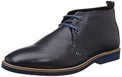 Bata Mens Damon Blue Leather Boots - 9 UK/India (43 EU)(8059111)