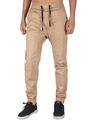 Italy Morn Harem Pantalones De Hombre Deporte Chinos Cargo Pantalon Skinny  Joggers Casual Algodon XL Caqui 68f74362ea9c