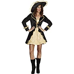 Traje de pirata barroco para mujer, talla M.