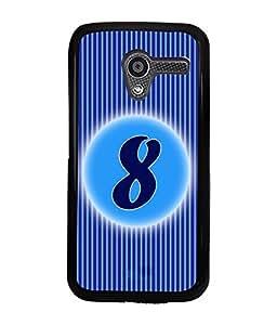 Fuson 2D Printed Numerology Designer back case cover for Motorola Moto X - D4225