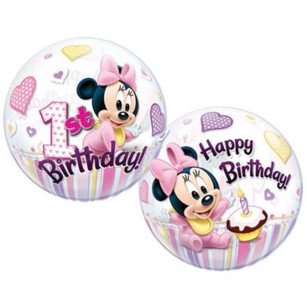 (Luftballon Minnie Maus 1. Geburtstag, 56 cm )