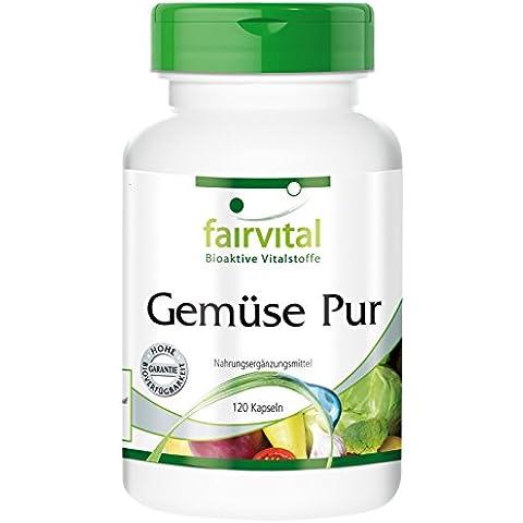 Fairvital - Verdure pure - concentrato di 10 verdure (carote, broccoli ecc) - 120 compresse vegetali