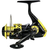 YAJIWU SC1000-7000 Oro Negro de plástico Serie Chapado 12BB Izquierda/Derecha Mano Carrete de Pesca Regalos de Pesca (Spool Capacity : 1000 Series)