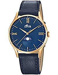 Lotus Watches Reloj Fase Lunar para Hombre de Cuarzo con Correa en Cuero 18428/2