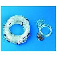 Flashmer - Montaje para pesca con palangre (uso profesional, 100 m, 30 anzuelos 2-0)