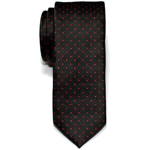 Retreez puntini tessuto microfibra Skinny cravatta, cravatta, colori assortiti