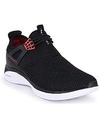Campus Link Men's Black Red Mesh Running Shoes (8)