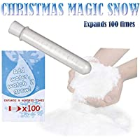AKH® Magic Snow | Instant Snow | Magic Fake Snow Tube Instant Xmas Powder Artificial Christmas Decoration Fluffy | Just add Water!