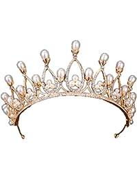 ZCM Copricapo Da Sposa ,Corona Di Perle Accessori Per Capelli Banchetti  Abito Da Sposa 85fcdfa0ecd9