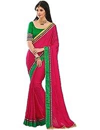DaIndiaShop Saree (Dis45858_Fuchsia_Free Size)