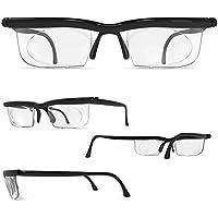 Adlens® Brille mit Dioptrien individuell einstellbar unisex Lesebrille Lesehilfe Sehhilfe