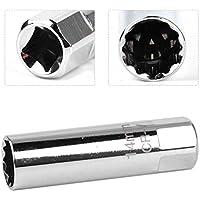 FireAngels - Llave de Vaso para bujías de 14 mm, Acero Inoxidable, 12 Puntos, para BMW Mercedes Toyota Peugeot Spark Plug Disassembl, Manga