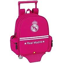 Real Madrid - Mochila-guardería con ruedas, color rosa (Safta 611454280)
