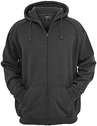Urban Classics Zip Hoody, Sweat-Shirt à Capuche Homme
