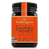 Wedderspoon, 100% Raw Manuka Honey, Kfactor 16, 17.6 Oz (500 G)