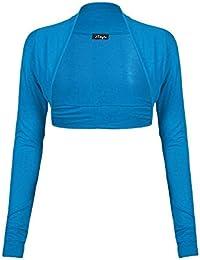 Para mujer Plain mangas largas Plus Size Bolero Bolero Cardigan Top