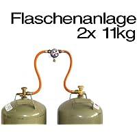 TGO Multimatik Umschaltanlage Gas, Anschluss 30mbar, Ausgang SRV 10 mm, inkl. 2 Anschlussschläuche